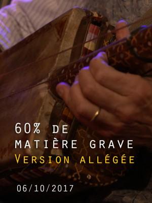 Image de couverture JEAN-PHILIPPE VIRET / LOY EHRLICH / JOCE MIENNIEL 60% DE MATIERE GRAVE - VERSION ALLEGEE